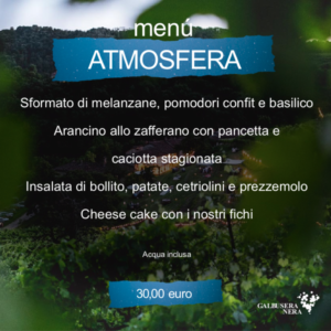 menu atmosfera settembre